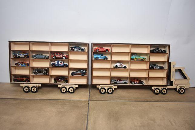 Półka do pokoju dziecinnego na resoraki auta Hot Wheels drewno sklejka