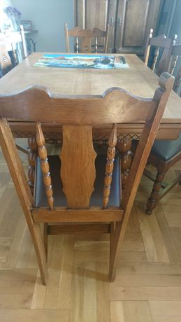 Stół i 6 krzeseł Komplet mebli