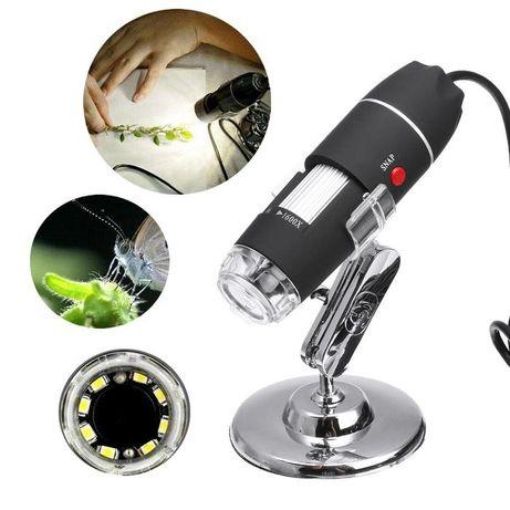 500X HD цифровой USB микроскоп + Калибровочная линейка 8 LED
