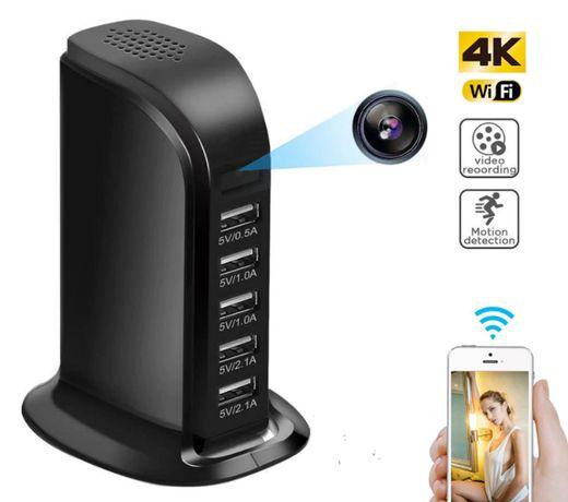 IP мини камера видео наблюдения usb зарядка скрытая датчиком движения
