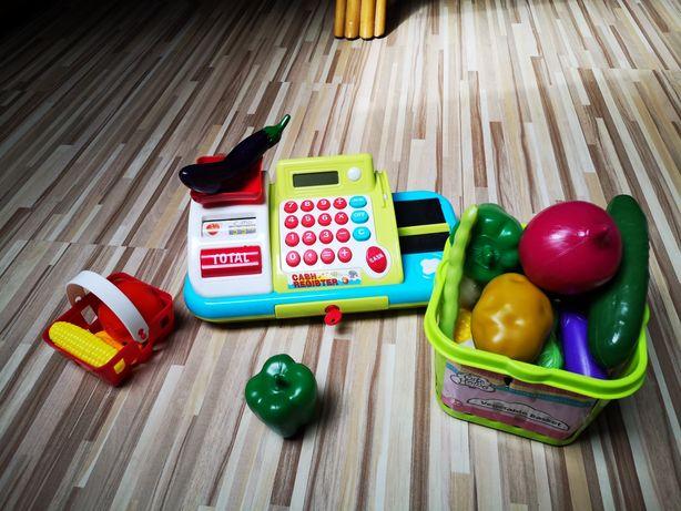 Kasa zabawka + mnóstwo dodatków
