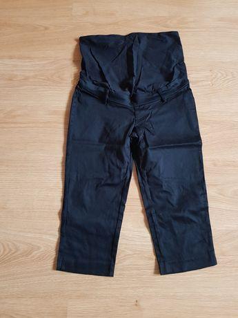 Spodnie 3/4 rybaczki ciążowe za kolano rozmiar 38 H&M czarne
