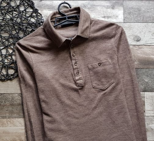 Long sleeve bluzka męska Hugo Boss Selection S 36 wełna+jedwab