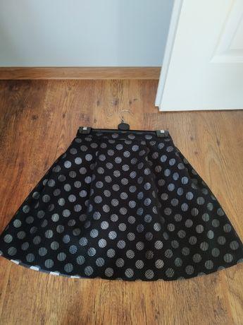Rozkloszowana spódniczka w kropki rozmiar 36