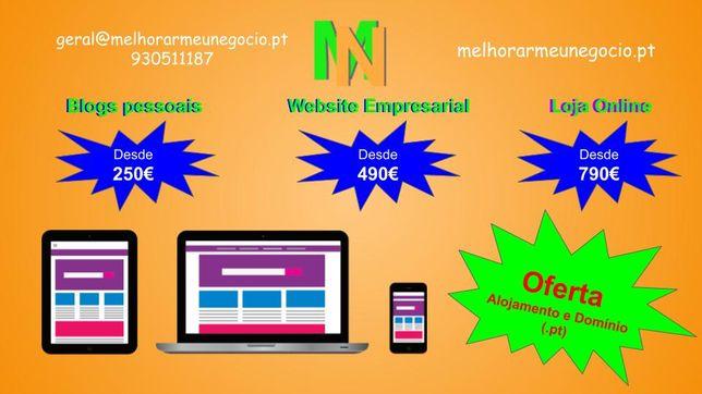 Criação de Websites, Blogs ou Lojas