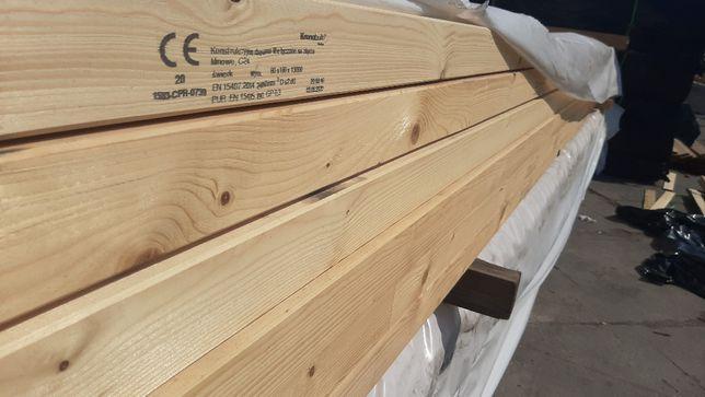 Strugane, suche drewno konstrukcyjne KVH - więźba dachowa do 13 m dł.
