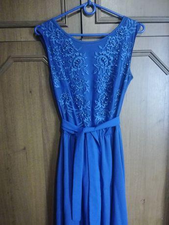 Платье синее на торжество