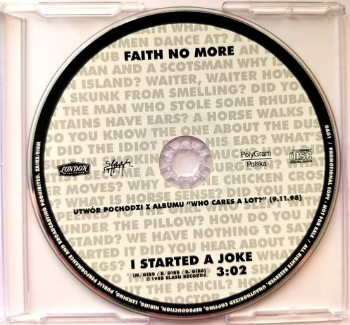 CDs Faith No More I Started A Joke 1995r