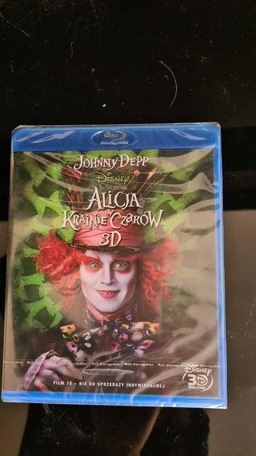 """Bajka Blu-ray 3D """"Alicja w krainie czarów"""" nowa !Nie otwierana,folia"""