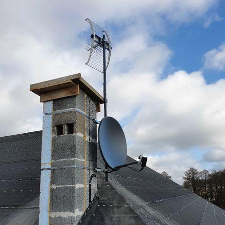 Montaż/Serwis anten satelitarnych i DVBT