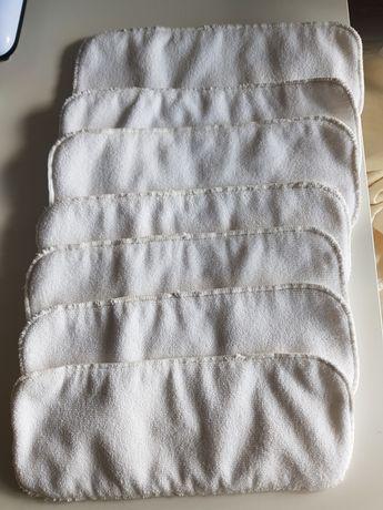 Wkłady do pieluch wielorazowych 7 sztuk NOWE Bobolider mikrofibra
