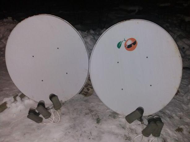 Продам супутникову антену з двойними головками в зборі+ тюнер.