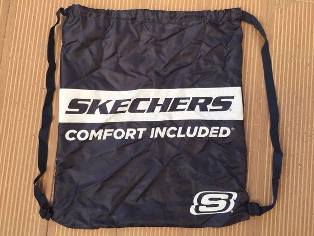 Saco Mochila Backpack com cordão - Skechers - novo