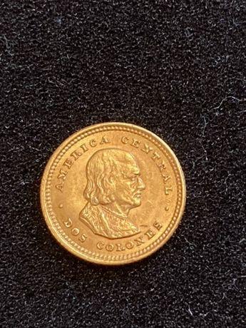 Złota moneta 2 colones 1900 Kostaryka