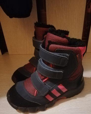 Фирменные термо ботиночки Adidas, ботинки adidas, сапожки adidas 26 р