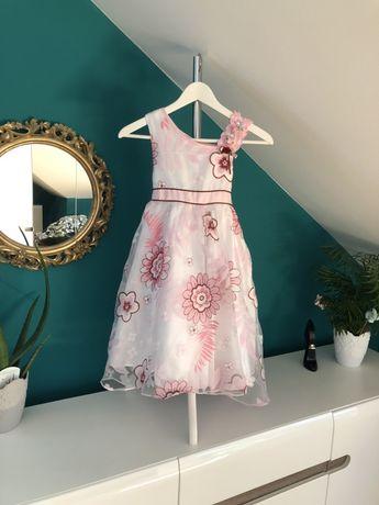 Sukieneczka sukienka okolicznościowa różowa