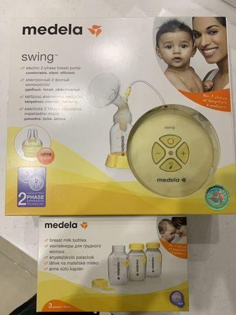 Электронный двухфазный молокоотсос Meleda swing и соска Кальма