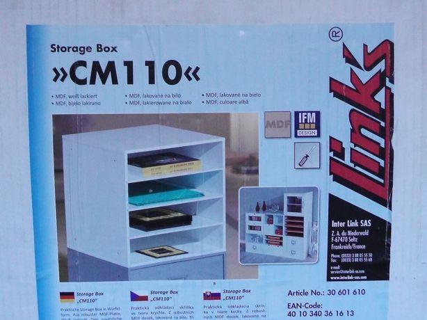 Storage Box Regalik z półkami Lakierowany Biały MDF model CM110