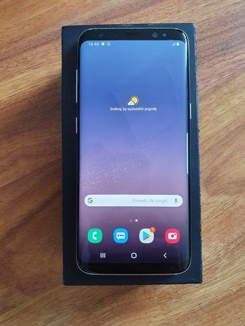 G950, SAMSUNG S8 Silver 64GB, stan BDB, +etui, szkło UV