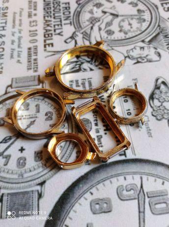 Graty ze starej chaty_stare zegarki_ złom z zegarków: koperty 5 sztuk.