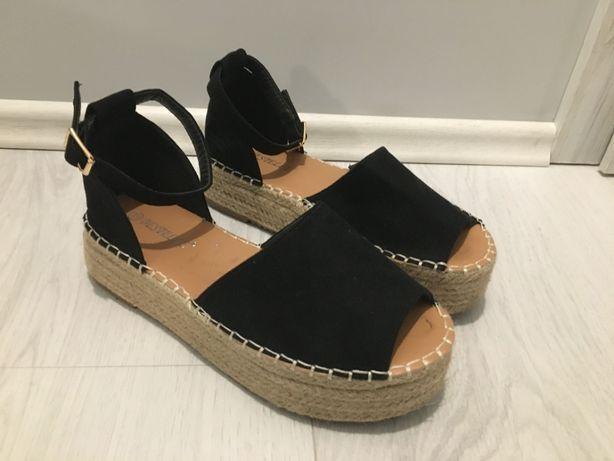 buty damskie r 39 24,5cm 25cm sandałki sandały czarne Bestelle TKMAXX