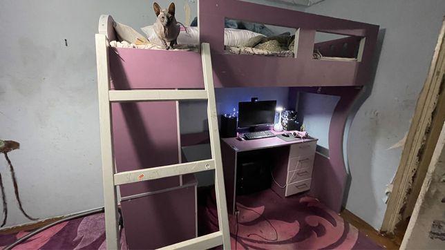 Кровать чердак, кровать для девочки