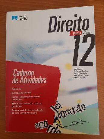 Caderno de atividades de Direito 12 ano