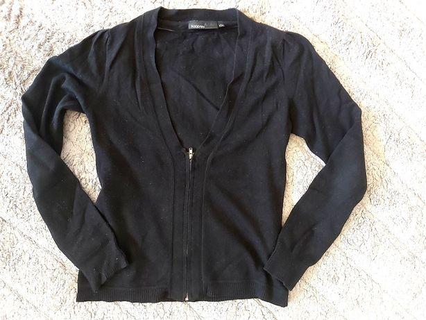 KappAhl czarny sweter zapinany na zamek suwak S 36