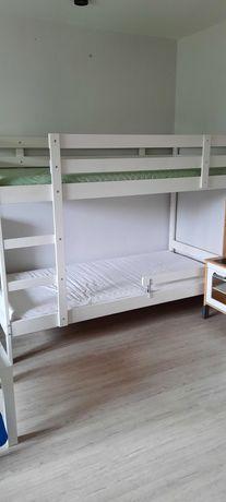 Łózko drewniane Ikea dzieciece + materace