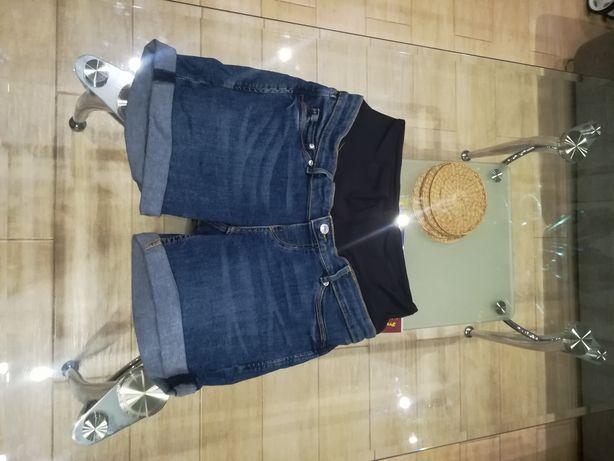 Shorty jeansowe ciążowe H&M