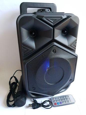 Głośnik Bluetooth przenośny Duży kolumna LED Mikrofon Pilot Pendeive