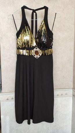 Платье короткое с  пайетками