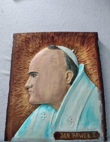 Obraz Jan Paweł II w drzewie