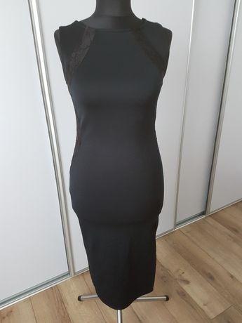 Sukienka czarna atmosphere z koroną