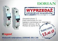 Wyłącznik nadprądowy LEGRAND 301 C 6A - Dorian Sp.j.