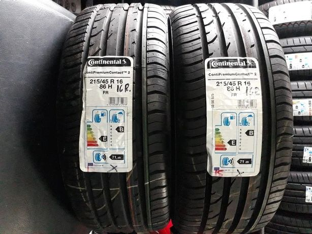 2x NOWE 215/45/R16 CONTINENTAL ContiPremiumContact 2, letnie
