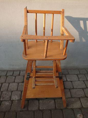 Stare oryginalne krzeselko dla dziecka Super dekoracja do zdjec