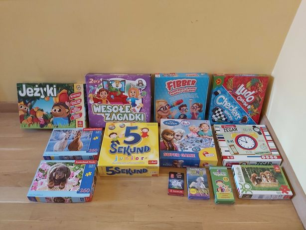 Mega zestaw gier planszowych i puzzli