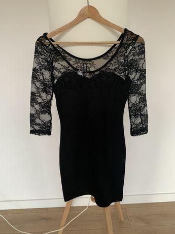Obcisła sukienka z koronką, jak nowa H&M, roz. 34/XS
