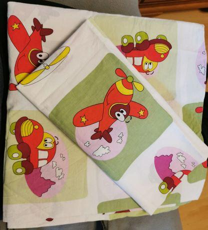 Pościel kołdra poduszka Samolot dziecięca