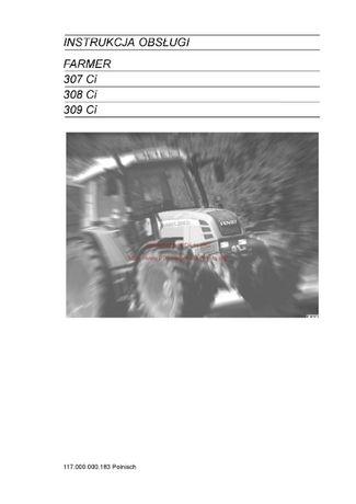Instrukcja obsługi ciągniki Fendt 307Ci 308Ci 309Ci-Farmer