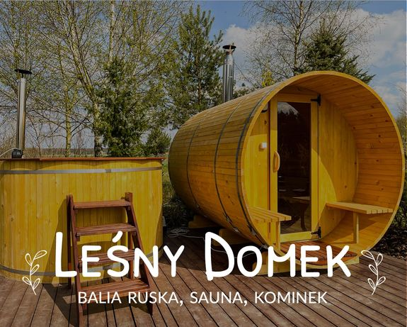 LEŚNY DOMEK - klimatyczna, drewniana chatka z kominkiem na wynajem