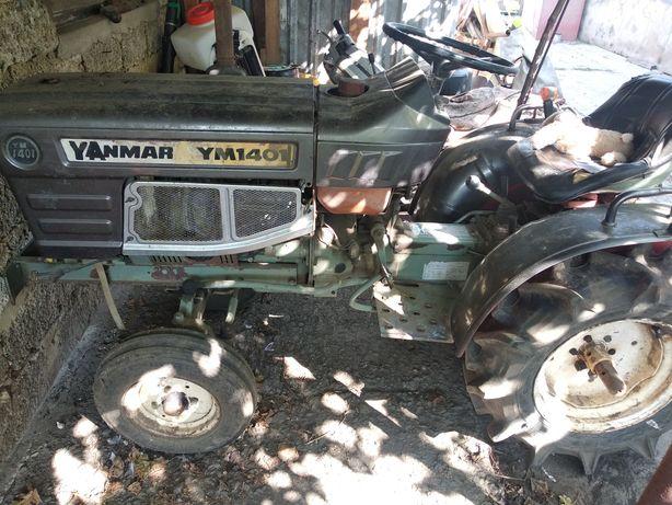 Продам мини-трактор YANMAR 1401 с прицепом