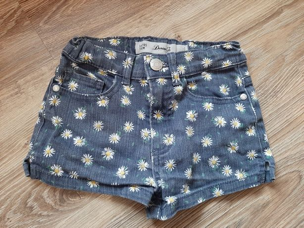 Krótkie spodenki jeans 5-6 lat 116cm