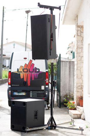 Sistema de som W&Db audio 7200watts AES amplificado
