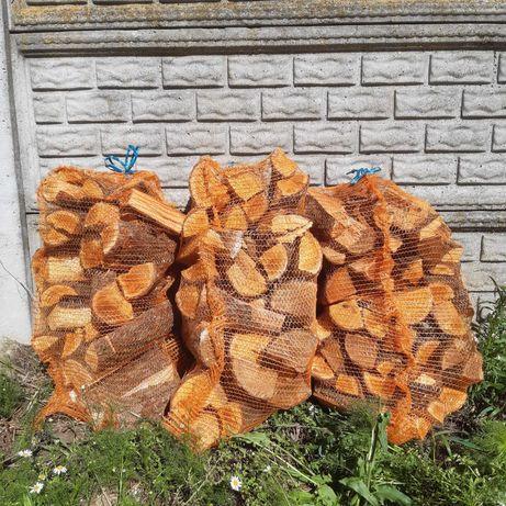 Drewno opałowe kominkowe workowane / Sosna, Olcha, Dąb /