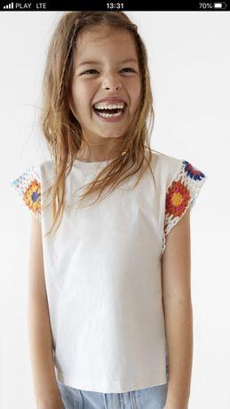 ZARA nowa biala bluzeczka 11-12 lat 152 cm
