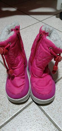 Buty,obuwie zimowe, Śniegowce dla dziewczynki rozm 22