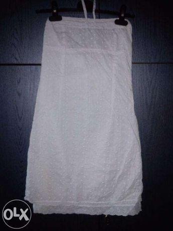 Biała obcisła sukienka wiązana na szyi Pepe Jeans