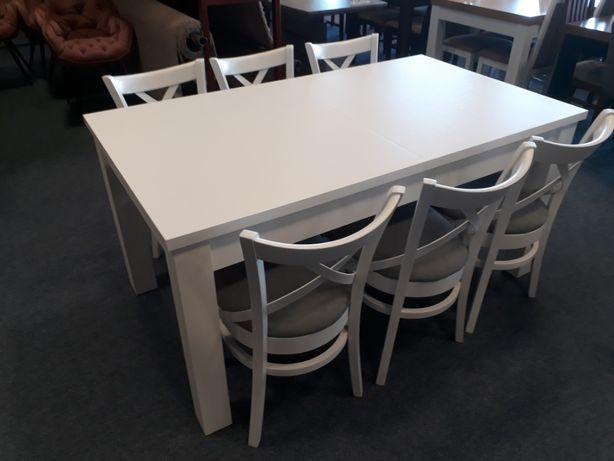 Stół rozkładany kolor biały + krzesła (opcjonalnie)